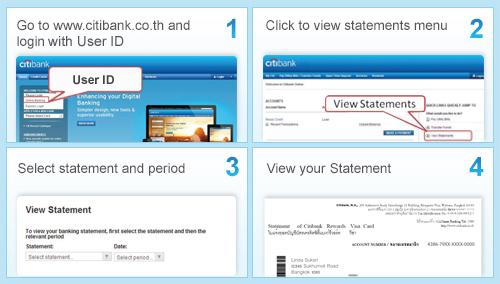 Citibank Thailand - Citibank Online - View statement